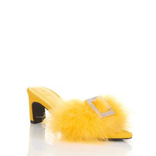 イエローブーツ(Yellow boots)のYello shoes MAIN CHICK LOWHEEL SANDALS(ハイヒール/パンプス)