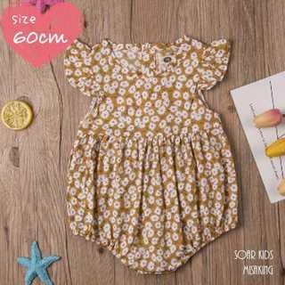 アウトレット⭐︎小花柄フリルロンパース 60cm(70) 海外子供服