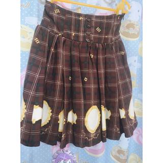 アンクルージュ(Ank Rouge)のアンクルージュ 後ろ 編み上げリボン スカート チェック(ミニスカート)
