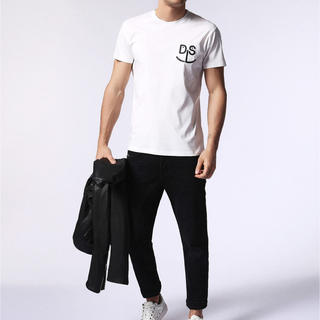 DIESEL - dm7187 DIESEL ディーゼル メンズ ロゴプリント Tシャツ