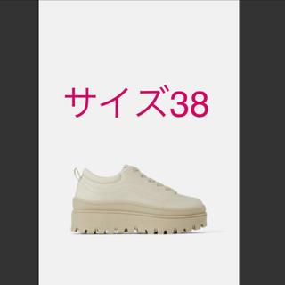 ZARA - 【美品】VIVI掲載 ZARA のこぎりフラットフォーム仕様スニーカー38 厚底