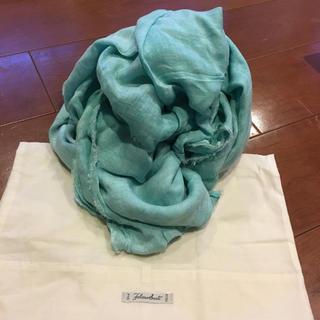 Faliero Sarti - ファリエロサルティ ストール 新品 新品未使用 未使用 グリーン シルク
