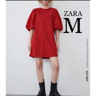 ZARA - 【新品・未使用】ZARA パフスリーブ スウェット  ワンピース M