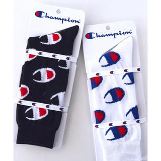 Champion - 新品 CHAMPION チャンピオン ロゴソックス 白黒2足セット