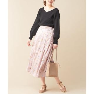 NICE CLAUP - 新品 NICE CLAUP 花柄 ロングスカート フラワー フリーサイズ ピンク