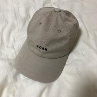 coen - coen キャップ ベージュ