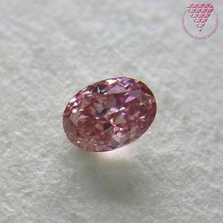 0.082 ct F.V.Pink SI2 天然 ピンク ダイヤモンド(リング(指輪))