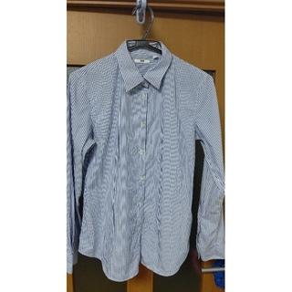 ユニクロ(UNIQLO)のユニクロ  ストライプシャツ  ブルーとうすむらさき 2枚(シャツ/ブラウス(長袖/七分))
