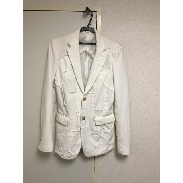 COMME des GARCONS HOMME PLUS(コムデギャルソンオムプリュス)のCOMME des GARCONS HOMME PLUS ジャケット ホワイト メンズのジャケット/アウター(テーラードジャケット)の商品写真