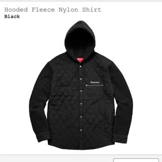 Supreme - Supreme 17AW hooded fleece nylon shirt
