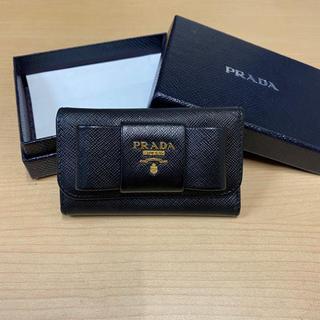 プラダ(PRADA)のPRADA プラダ キーケース リボン バッグ 財布(キーケース)