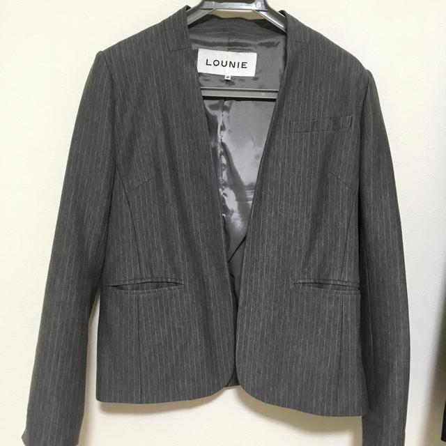 LOUNIE(ルーニィ)の【値下げ】ルーニィ♡ジャケット レディースのジャケット/アウター(ノーカラージャケット)の商品写真