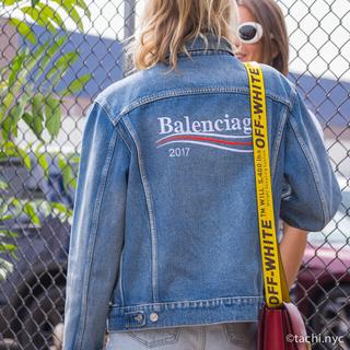 バレンシアガ(Balenciaga)の最終値下げ BALENCIAGA キャンペーンロゴ デニムジャケット(Gジャン/デニムジャケット)