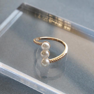 DEUXIEME CLASSE - 207「淡水パール3連リング」指輪 S925