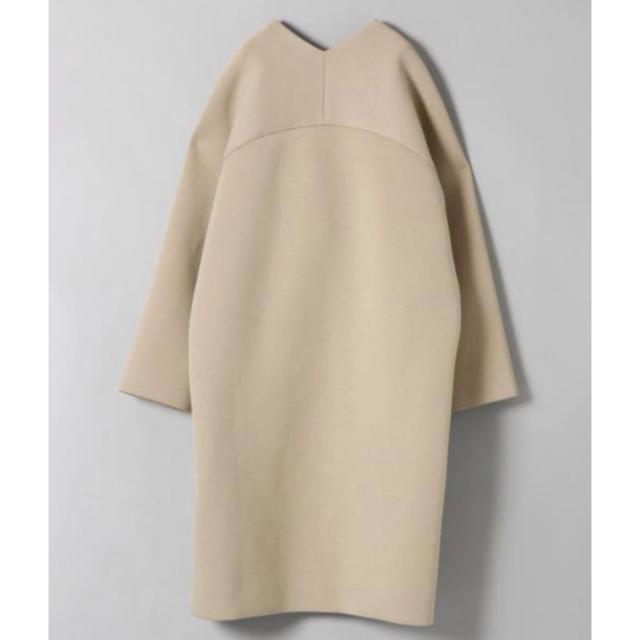 JEANASIS(ジーナシス)のボンディングノーカラーコート レディースのジャケット/アウター(ロングコート)の商品写真