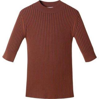 LE CIEL BLEU - 【LE CIEL BLEU】New Plating Rib Knit