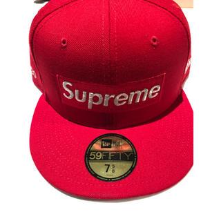 Supreme - supreme newera L RED 赤 7-5/8 ニューエラ