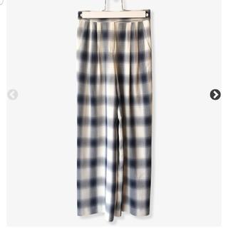 PHEENY - pheeny Rayon ombre check 2 tuck slacks