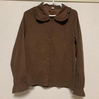 ブラウン 丸襟ブラウス(シャツ/ブラウス(長袖/七分))