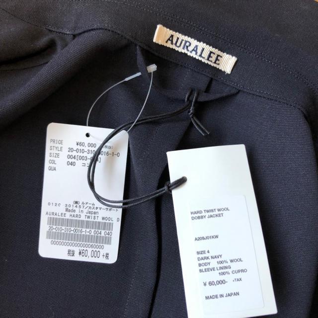 ◆新品20SS◆AURALEE HARD TWIST WOOL DOBBY メンズのジャケット/アウター(テーラードジャケット)の商品写真