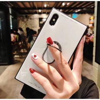 ★新品 iPhone11 Pro 5.8 スクエア ケース リング付き(白)
