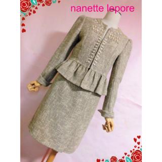 Nanette Lepore - 【ナネットレポー】ビジュー使いスカートスーツ☆セレモニーお呼ばれ