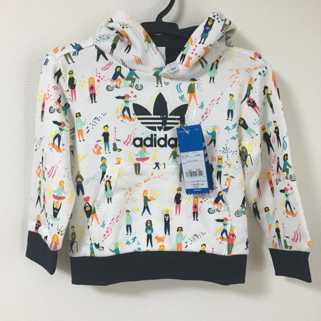 adidas(アディダス)の【新品】adidas オリジナルス トレフォイルパーカー 100cm キッズ/ベビー/マタニティのキッズ服男の子用(90cm~)(ジャケット/上着)の商品写真