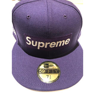 Supreme - supreme newera purple パープル 7-3/4ニューエラ