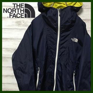 THE NORTH FACE - 美品 大人気ノースフェイス★刺繍ロゴ ナイロンパーカー ダークネイビー