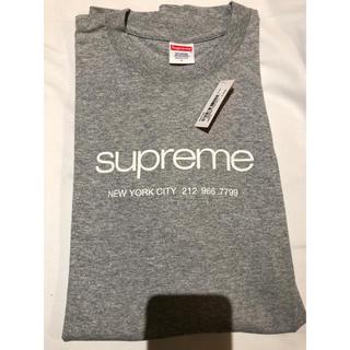 Supreme - supreme shop tee グレー gray L ショップ