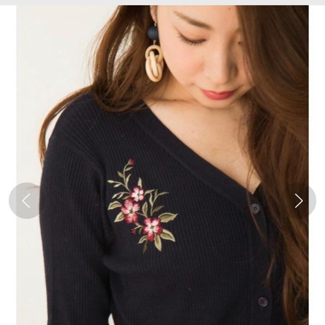 MERCURYDUO(マーキュリーデュオ)の花刺繍ニットワンピース♡ レディースのワンピース(ロングワンピース/マキシワンピース)の商品写真