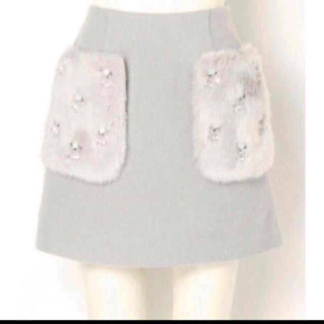 Lily Brown(リリーブラウン)のリリーブラウン  エコファービジュースカート レディースのスカート(ミニスカート)の商品写真