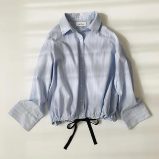 ミラオーウェン(Mila Owen)のミラ オーウェン Mila Owen ストライプ シャツ ブルー 水色 サイズ0(シャツ/ブラウス(長袖/七分))