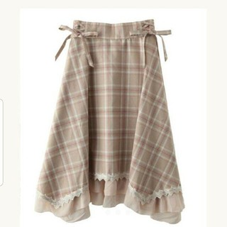 axes femme - axesfemme マドラスチェック裾切替スカート