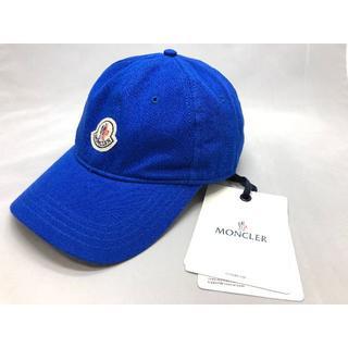 MONCLER - 【新品】MONCLER モンクレール ロゴ キャップ ブルー