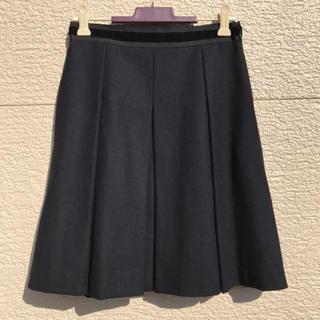 アンタイトル(UNTITLED)のUNTITLED アンタイトル スカート 黒 ブラック 0(ひざ丈スカート)