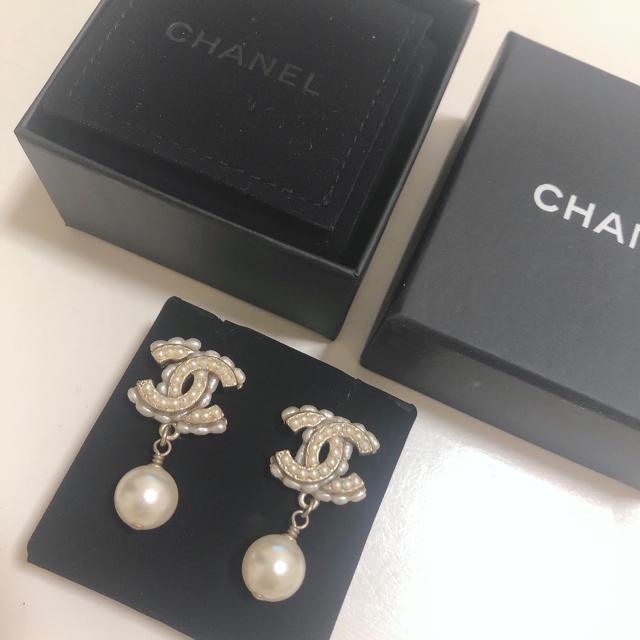 CHANEL(シャネル)の♡SALE!CHANEL ロゴパールピアス♡ レディースのアクセサリー(ピアス)の商品写真