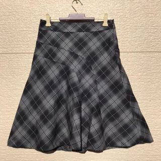 クミキョク(kumikyoku(組曲))のKUMIKYOKU 組曲 スカート グレー 黒 1(ひざ丈スカート)