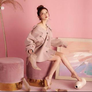 エイミーイストワール(eimy istoire)のDarich フラップシャツジャケット ピンク 人気完売(その他)