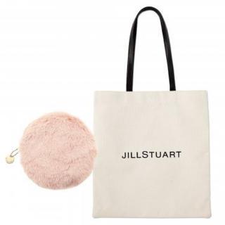 JILLSTUART - JILL STUART ロゴトート&ファーポーチ