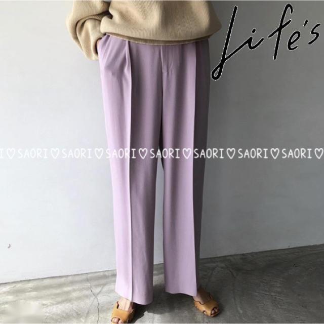 TODAYFUL(トゥデイフル)のTODAYFUL【新品タグ付】Georgette Rough Trousers  レディースのパンツ(カジュアルパンツ)の商品写真