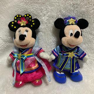 Disney - ミッキー   ミニー ぬいぐるみバッチ