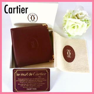 Cartier - カルティエ 二つ折り財布 革 マスト メンズ レディース スリム