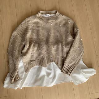 ZARA - 美品 myu ミュー パール付きニット ブラウス シャツ