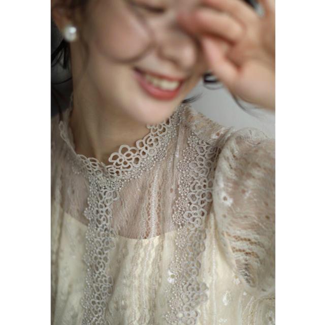cawaii(カワイイ)のcawaii 繊細な花レースを纏うトップス レディースのトップス(シャツ/ブラウス(長袖/七分))の商品写真
