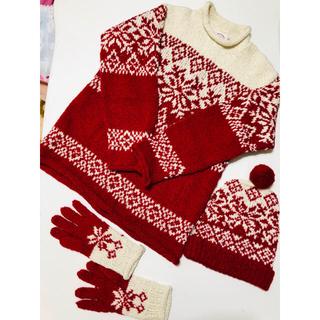 PINK HOUSE - ピンクハウス❤️3点セットセーターと帽子と手袋
