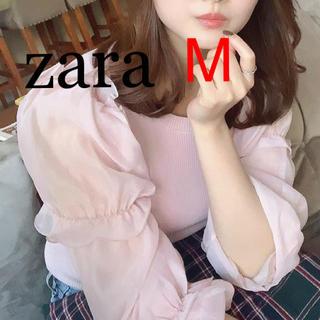 ZARA - 新品 ザラ オーガンザ ニット トップス M