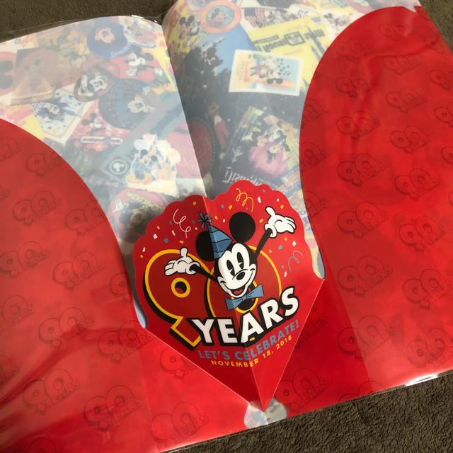 Disney(ディズニー)の90周年 ミッキー クリアファイル クリアホルダー エンタメ/ホビーのおもちゃ/ぬいぐるみ(キャラクターグッズ)の商品写真