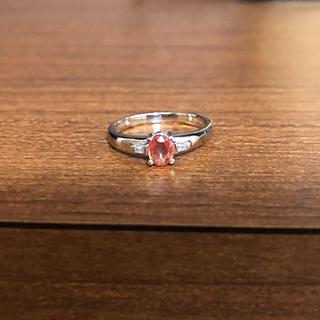 BENICO66様専用 パパラチアサファイア リング(リング(指輪))