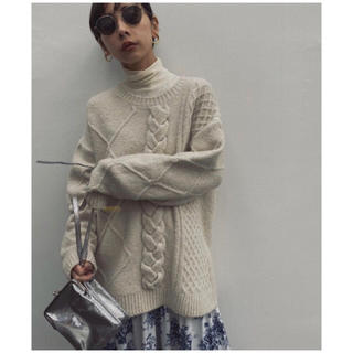 Ameri VINTAGE - UNDRESSED ASYMMETRY CABLE KNIT Ameri アメリ